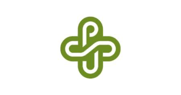 Green and white Portland State University logo with the letters PSU woven together into what looks like interlocking chain links with one link oriented vertically and the other horizontally
